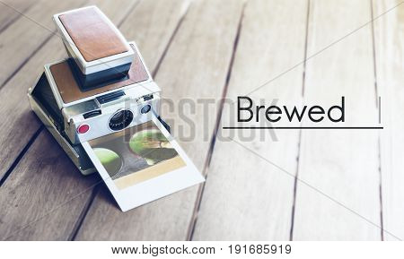 Brewed coffee lover word