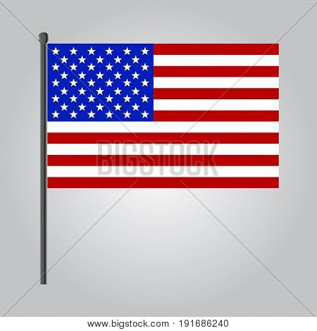 vector flat design USA flag icon. Isolated