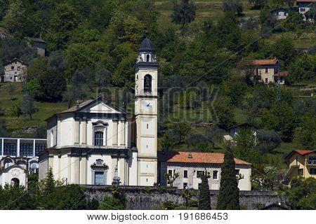 Parrocchia Di S. Abbondio In Mezzegra On Como Lake, Italy