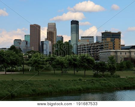 Minneapolis Skyline from Van White Park, Summer