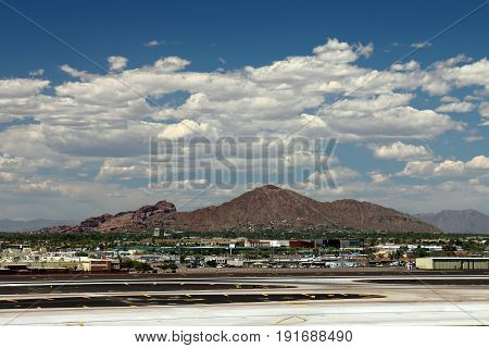 Camelback Mountain in Phoenix Arizona from the Airport