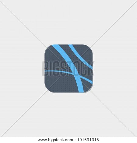 Blue lines icon flat stock vector illustration