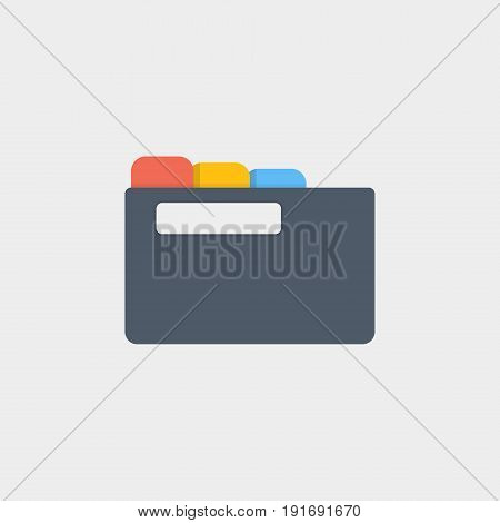 folder for papers icon flat stock vector illustration