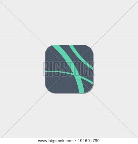The lines icon flat stock vector illustration