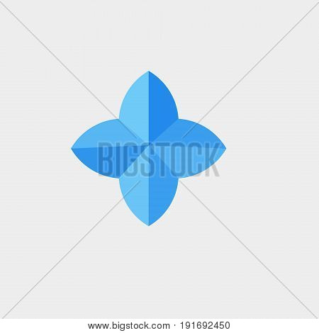 Sign 4 sides icon flat stock vector illustration