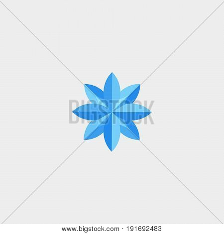 Sign of the side of the world icon flat stock vector illustration