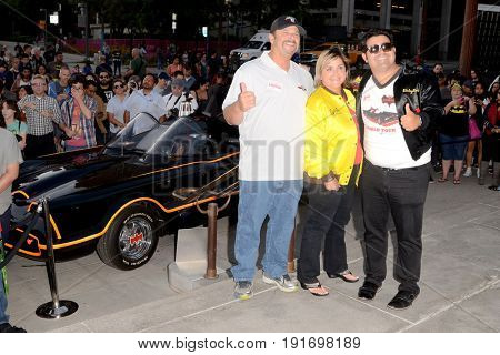 LOS ANGELES - JUN 15:  George Barris Fa at the Bat Signal Lighting Ceremony to honor Adam West at the Los Angeles City Hall on June 15, 2017 in Los Angeles, CA