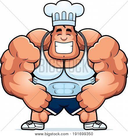 Cartoon Bodybuilding Chef