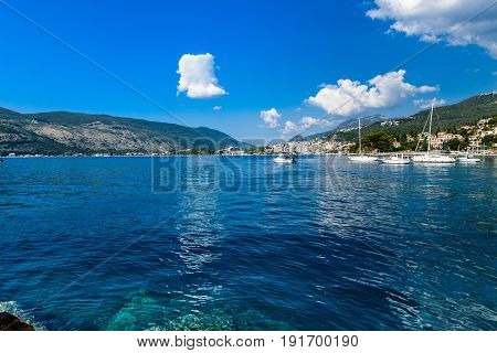 Herceg Novi marina sea port, Montenegro