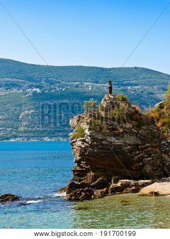 Adriatic sea coastline in Herceg Novi. Montenegro
