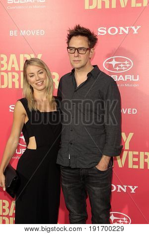 LOS ANGELES - JUN 14:  Jennifer Holland, James Gunn at the