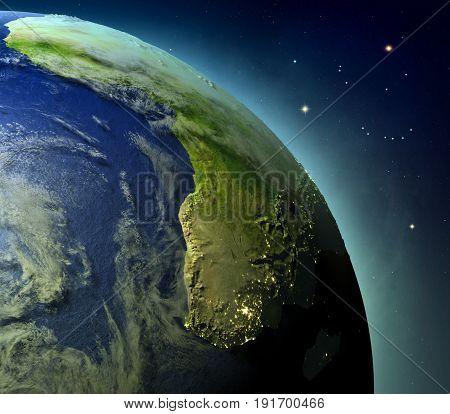 Africa From Earths Orbit