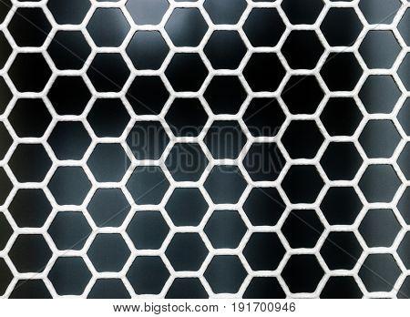 hexagon grid background texture pattern