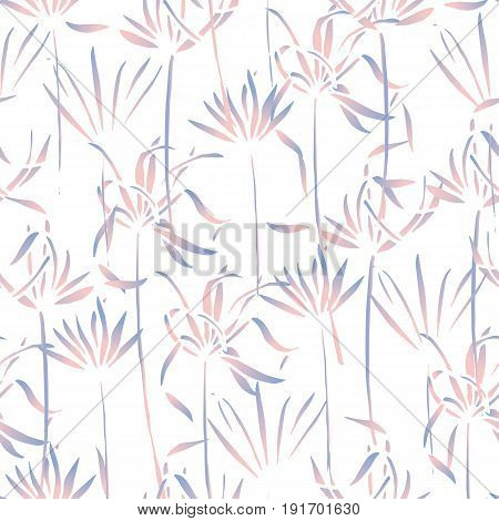 Vector tropical leaves pattern. Palm watercolor seamless background. Exotic tropical leaves pattern. Summer swimwear seamless pattern with palms.