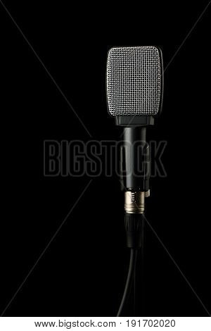 Instrument Microphone Isolated on a Black Background