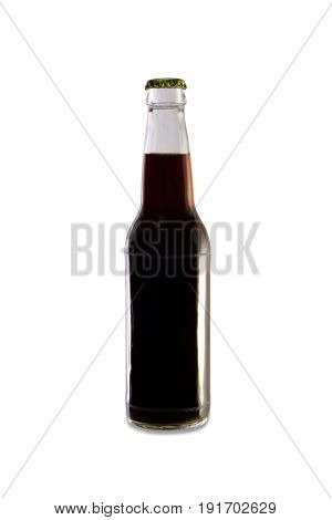 Homebrew Beer In A Clear Bottle, Dark Colored Beer