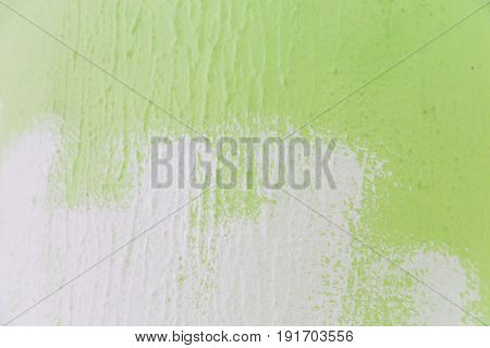 Painting Of A Wall From Green To White Color