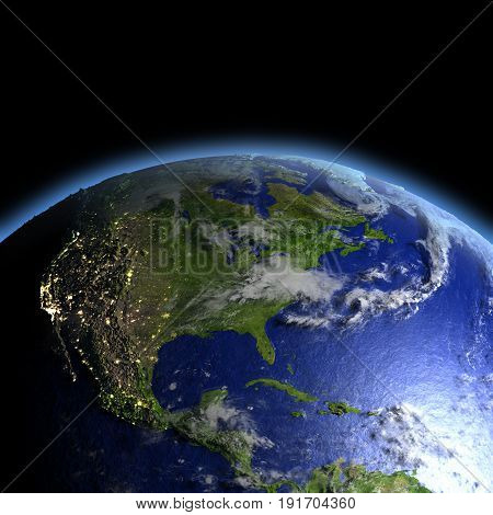 Central And North America From Space