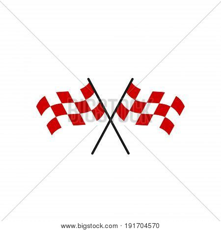 Vector red flag for rally on white background
