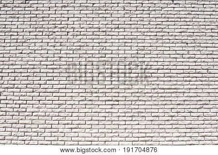 A wall of white bricks. Background construction of the walls of the building.