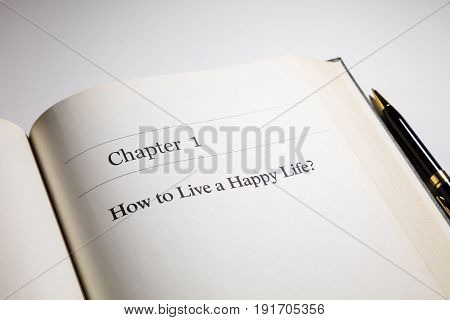 how to live a happy life? life philosophy fake book.
