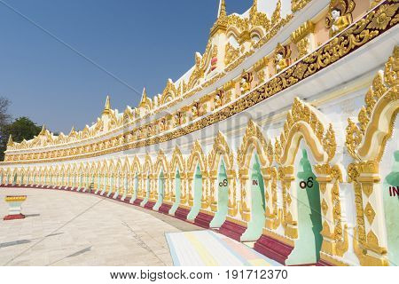 U Min Thonze Sel Pagoda located on Sagaing Hill. Mandalay Region, Myanmar