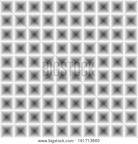 Seamless Geometry Abstract Greyscale Square Pattern With 3D Illusion Effect