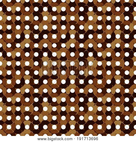 Seamless Pattern Made Of Round Shapes In Different Brown Colors