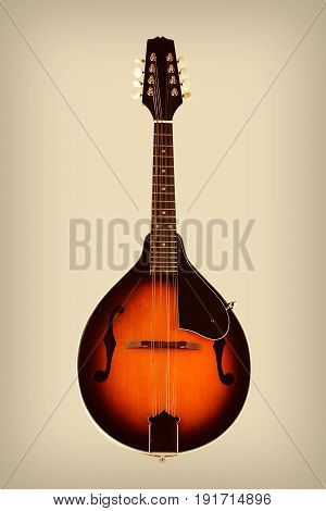 Traditional Mandolin Isolated Processed with Vintage Effects