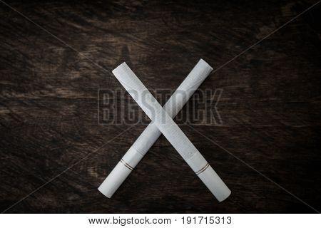 Stop smoking cross symbol Concept stop smoking.