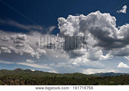 Partly Cloudy Skies over Prescott Valley Arizona