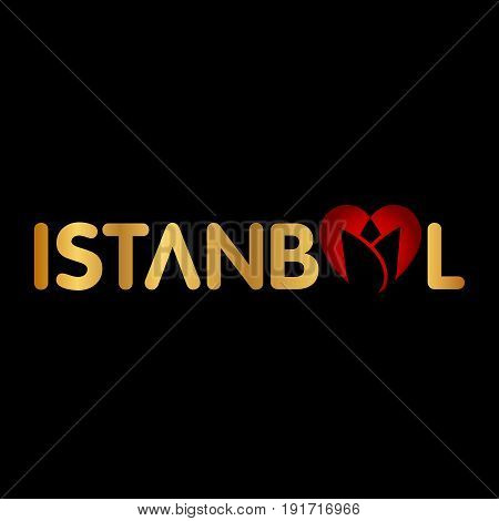 Istanbul logo icon and shape vector illustration