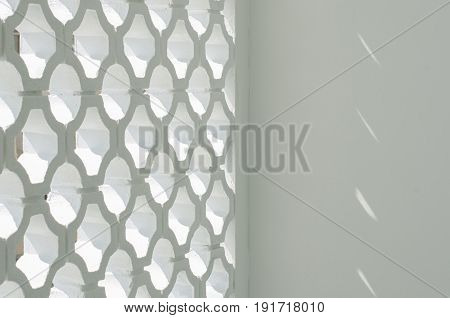 Circle block wall facade with light effect