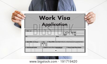 Visa Application Form Immigration Employment Recruitment, application, browsing, business, businessman,