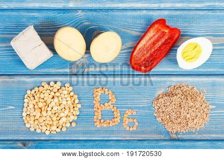Products Or Ingredients Containing Vitamin B6, Dietary Fiber And Minerals, Healthy Nutrition