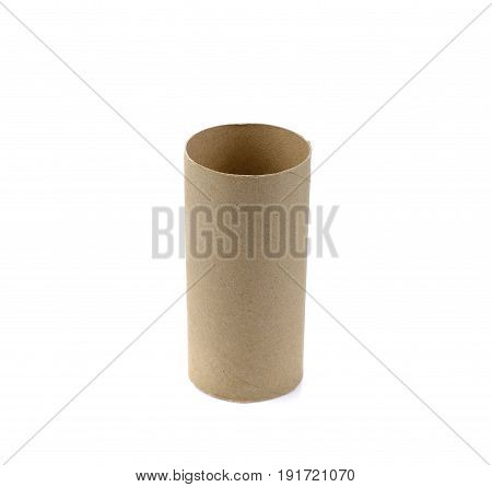 Brown paper rolls isolate on white background