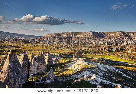 Beautiful Landscape Of Cappadocia Valley