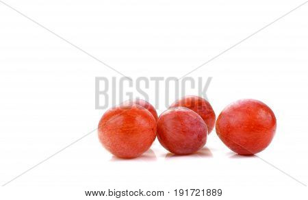 Sweet red apple isolated on white background