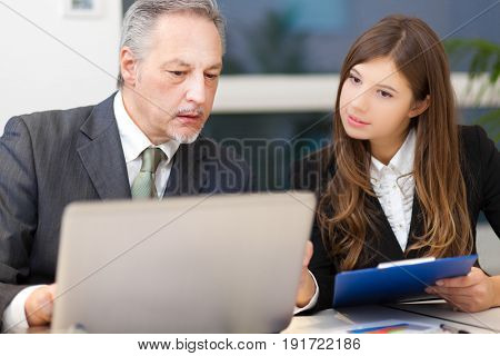 Business people at work