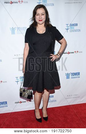 LOS ANGELES - JUN 03:  Jennifer Tilly arrives for the Ante Up of Cancer on June 3, 2017 in Beverly Hills, CA
