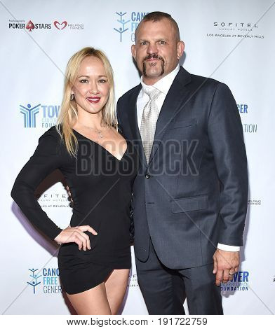 LOS ANGELES - JUN 03:  Chuck Liddell and Heidi Northcott arrives for the Ante Up of Cancer on June 3, 2017 in Beverly Hills, CA