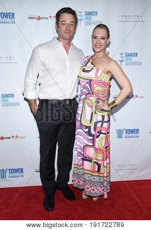 LOS ANGELES - JUN 03:  Tom Degnan and Erin Cummings arrives for the Ante Up of Cancer on June 3, 2017 in Beverly Hills, CA