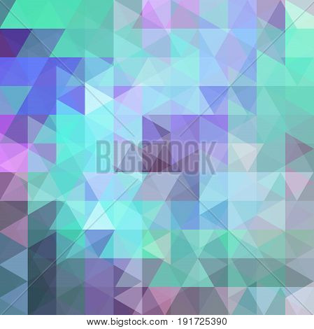 Abstract Vector Background With Pastel Green, Violet, Purple Triangles. Geometric Vector Illustratio