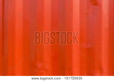 Texture Of Red Zinc Wall For Background