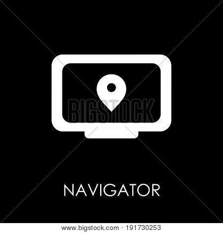 Navigator Icon Symbol Flat Style Vector Illustration