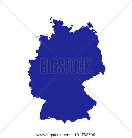 map of Germany illustration on white background