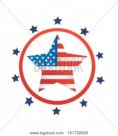 4th July background vector illustration on white