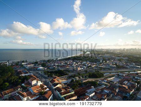 Aerial view of Olinda, Pernambuco, Recife