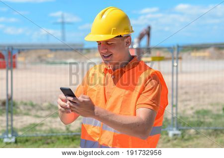 Construction Worker, Builder Or Engineer On Site