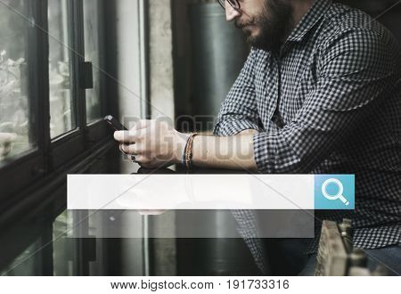 Magnifying Glass Search Find Application Icon Vector